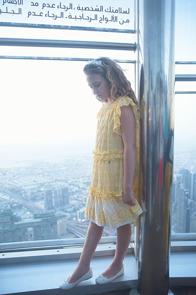 At the top of Burj Khalifa in Simonetta spring summer 2019