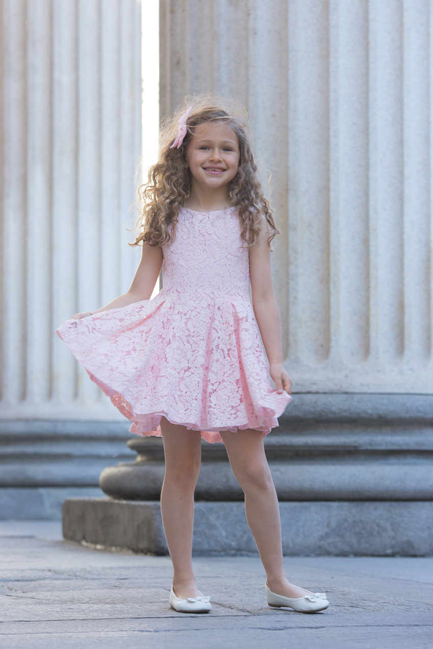 Illudia Spring Summer 2019 pink lace dress