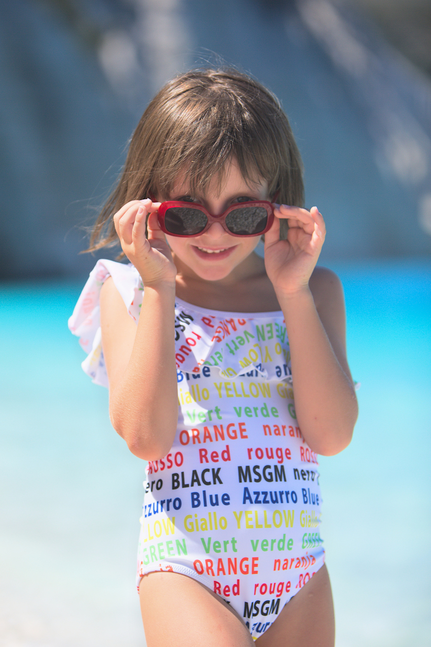 Fteri beach in MSGM kids swimming spring summer 2019