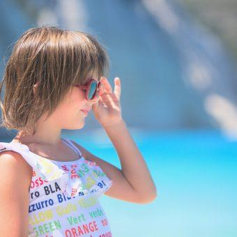 Fteri beach in MSGM kids swimming