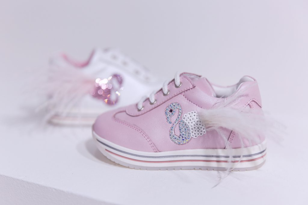 kids footwear trends for SS20 MICAM 88 with swans