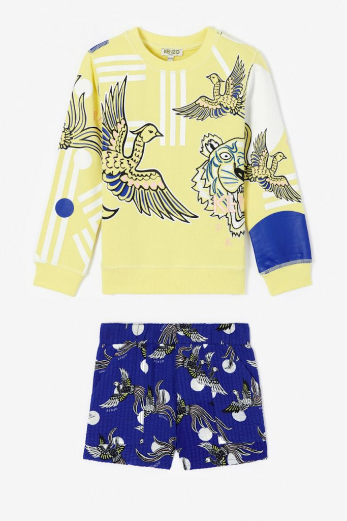 Kenzo Kids spring summer 2020 mini-me outfit for girls