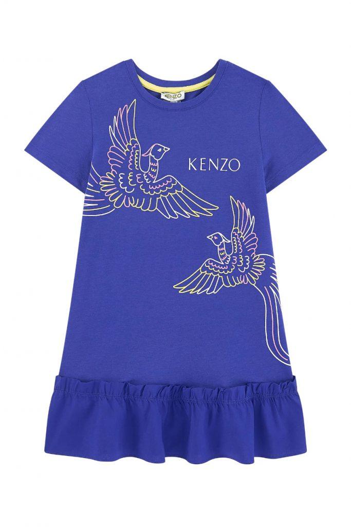 Kenzo kids spring summer 2020 mini-me purple dress