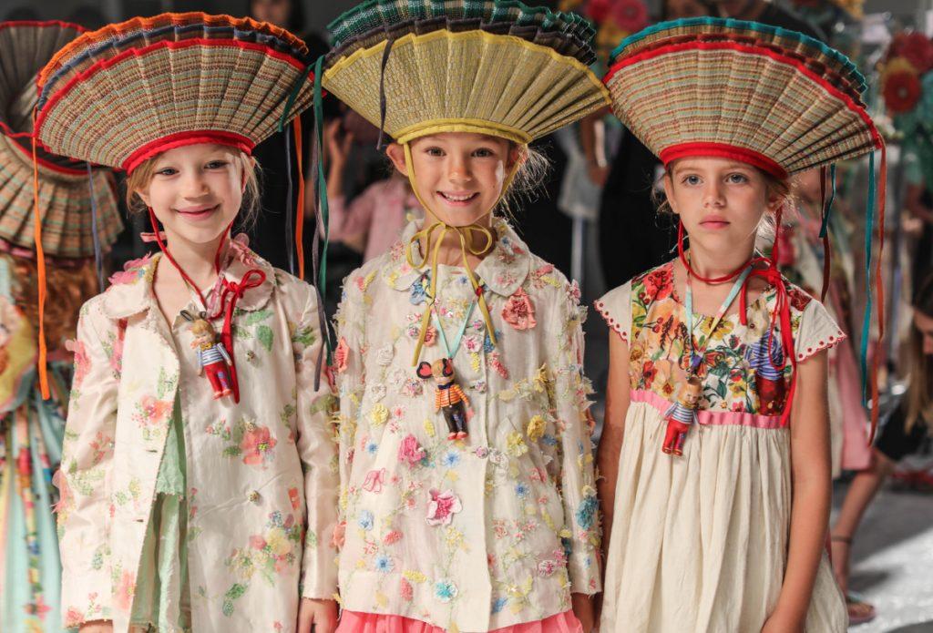 Péro kids clothing spring summer 2020 backstage during Pitti Bimo 89
