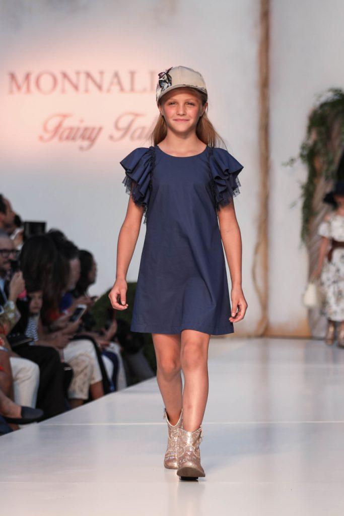Monnalisa Blue dress for Spring Summer 2020