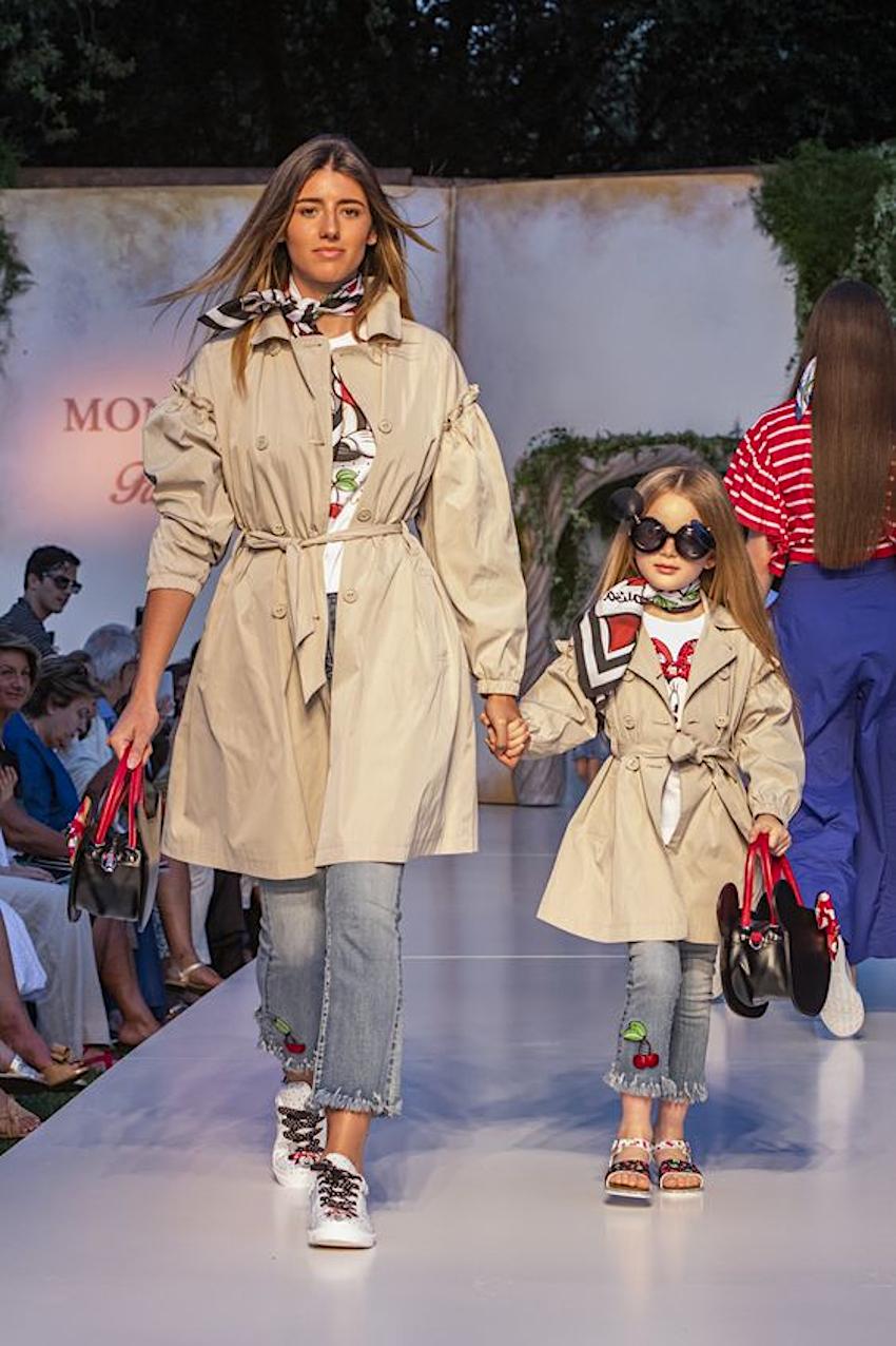Alessandra Ambrosio and Anja during Monnalisa spring summer 2020 fashion show