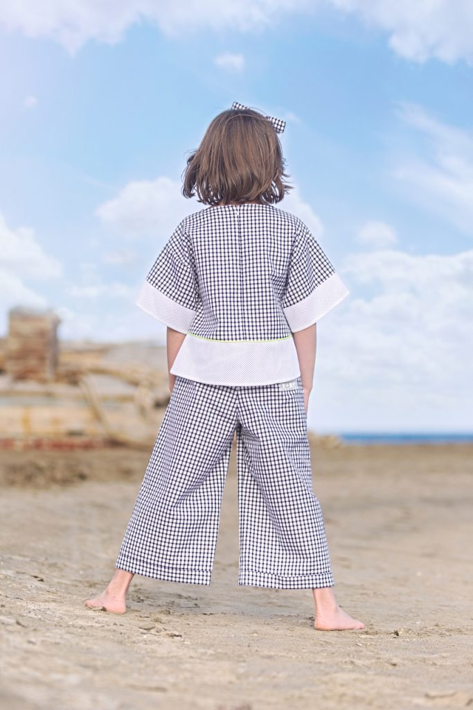 Alice in Simonetta black and white vichy print SS20