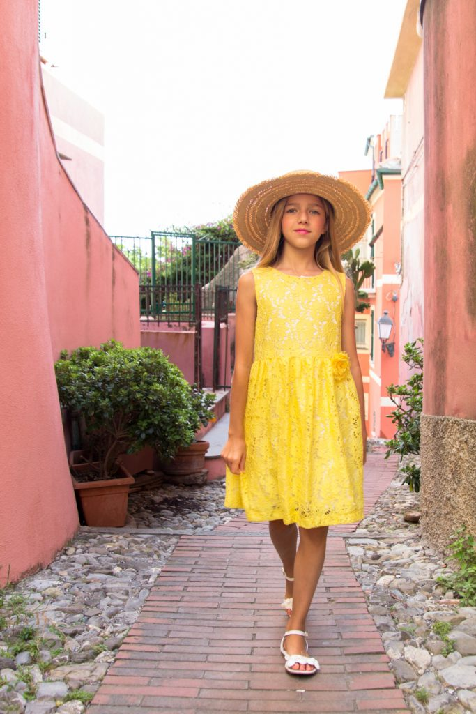 Magil yellow lace dress spring summer 2020