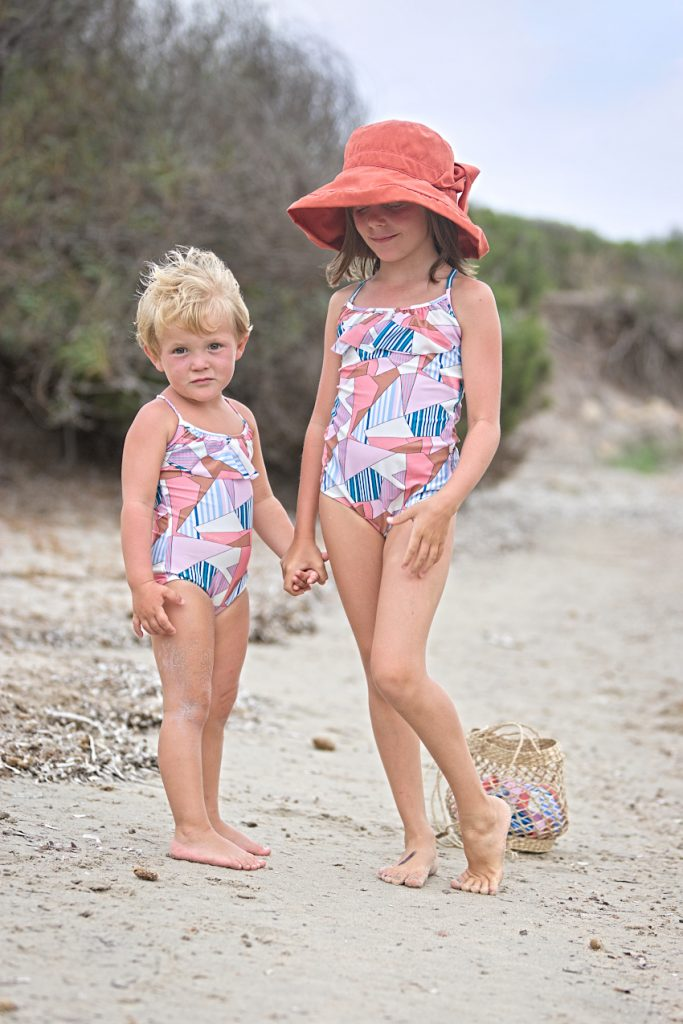 Swimming suits pastel shades vintage shape