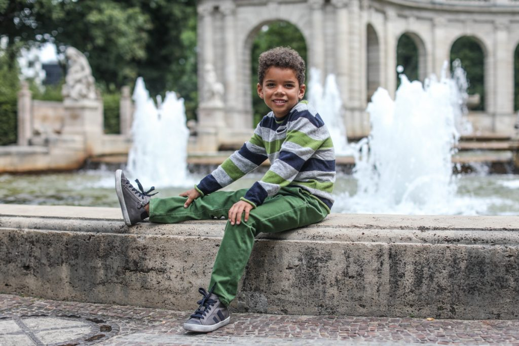 Back To School with Dianetti fall winter 2020/2021 grey and blue sneakers for boys