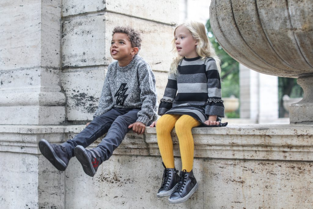 Back To School with Dianetti fall winter 2020/2021 grey sneakers for boys and girls