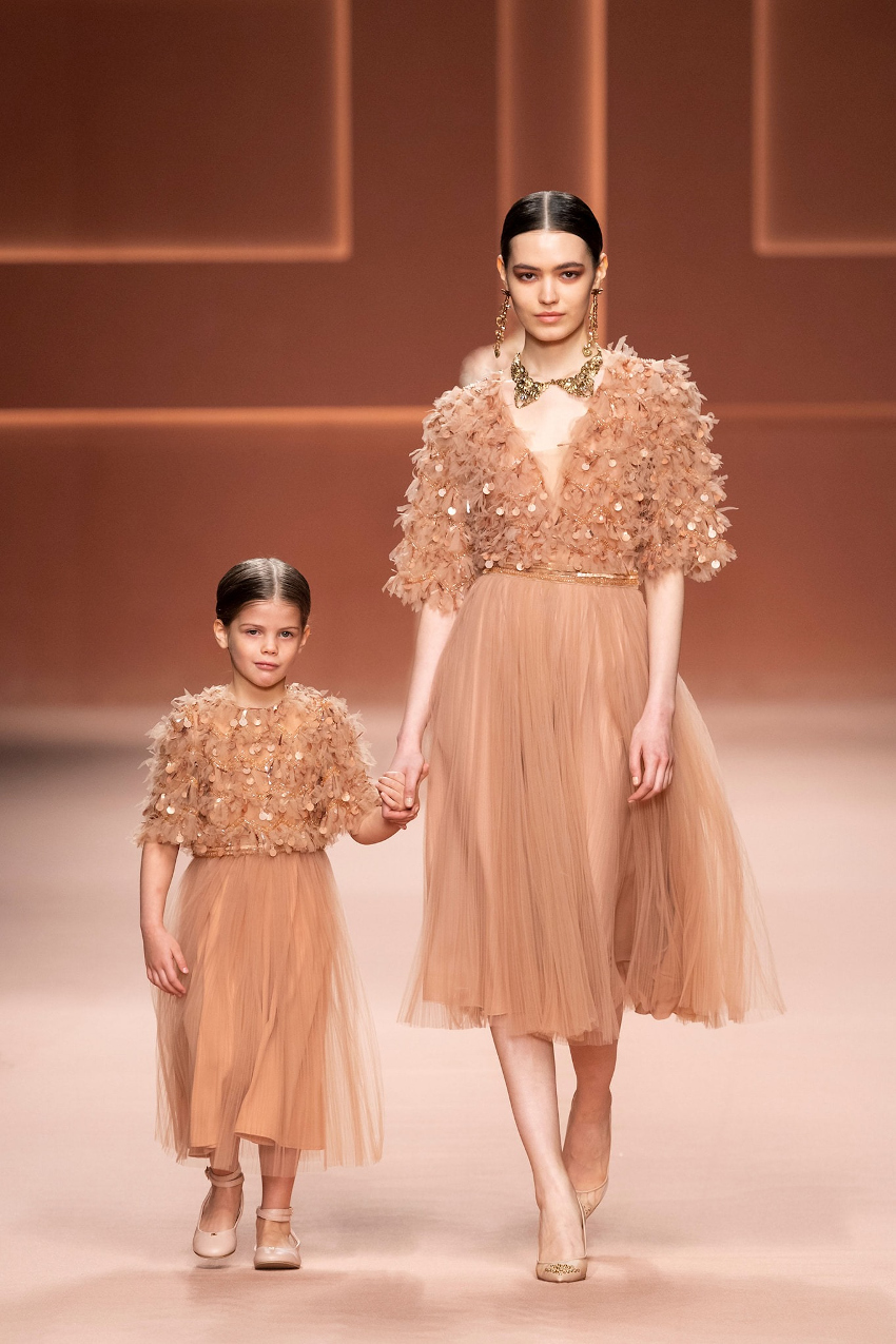 Milan Fashion Week Spring Summer 2021 and mini-me outfits for the winter season Elisabetta Franchi