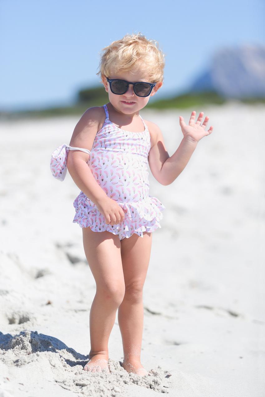 Aurora at La Cinta beach and Streghe In Bikini swimming suits