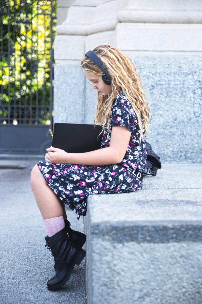 Kids Around Back To School 2020 with Karl Lagerfeld Kids mini-me black dress