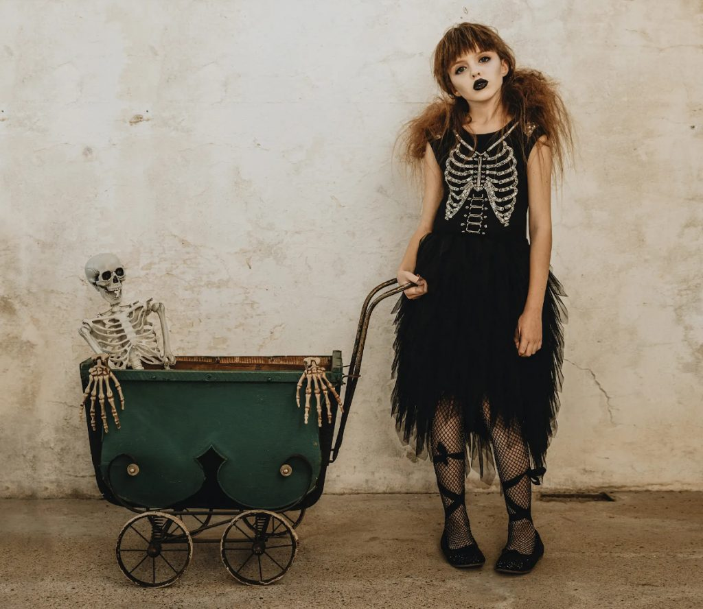 Halloween 2020 tutu du monde capsule collection black dress with skeleton bodice