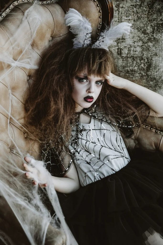 Halloween 2020 tutu du monde capsule collection grey and black tutu dress