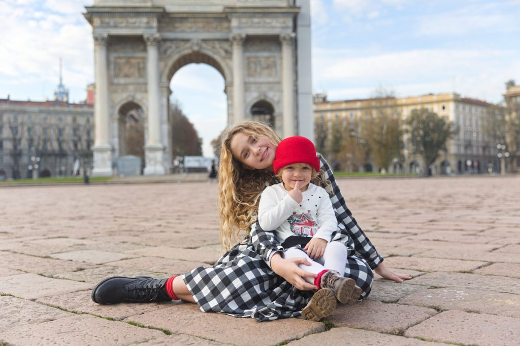 Simonetta at the Arch of Peace Milan