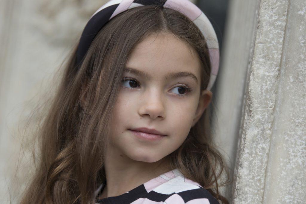 Sofia in Emilio Pucci girl fall winter 2020 for kids