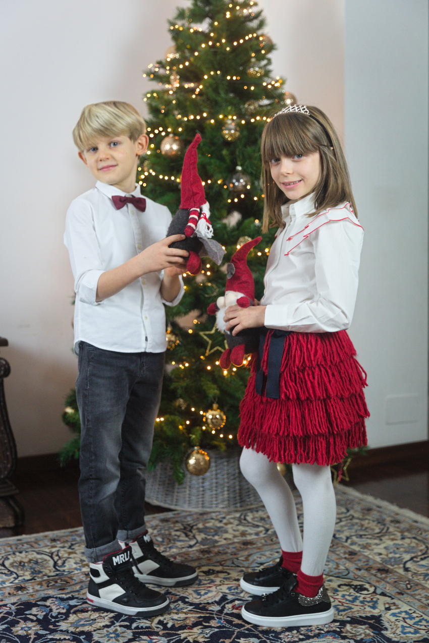 Christmast at the time of Covid - Alice and Gabriele in morelli shoes fall winter 2020/2021