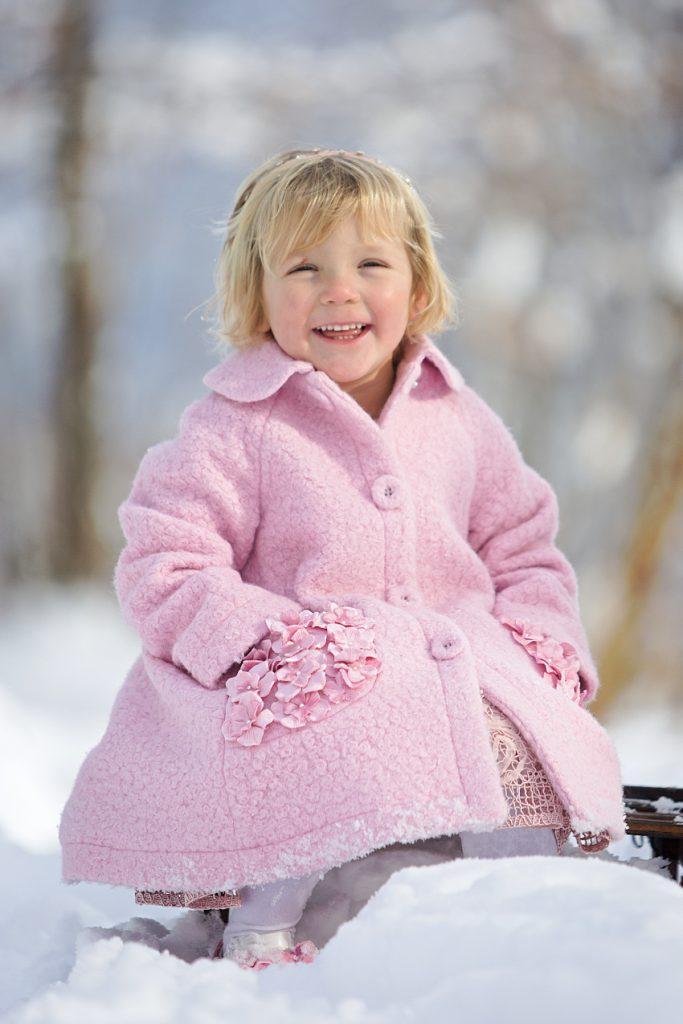 Monnalisa Chic pink bouclé coat fall winter 2020/2021