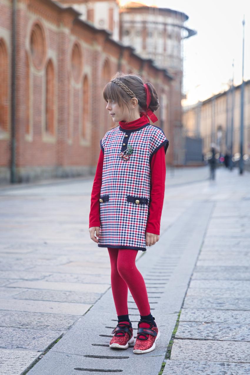 Ritorno a Milano e ritorno a scuola con Alice in Mimisol rosso e blu.