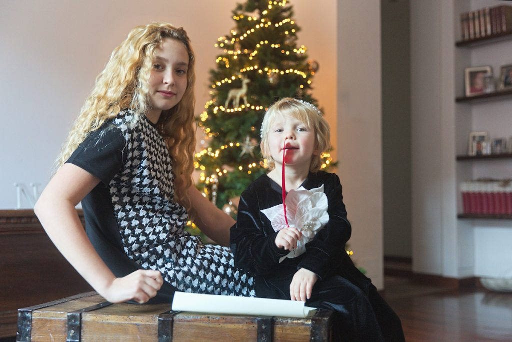 New Year's Resolutions 2021 with Anna and Aurora in black and white