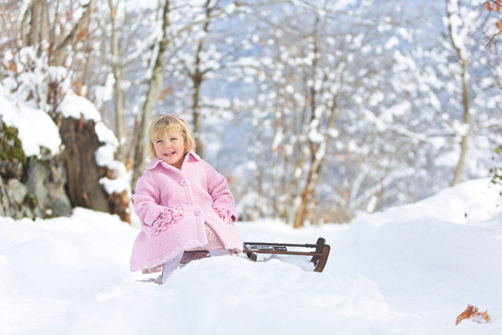 Kids Fashion Blog Monnalisa Chic pink bouclé coat fall winter 2020/2021
