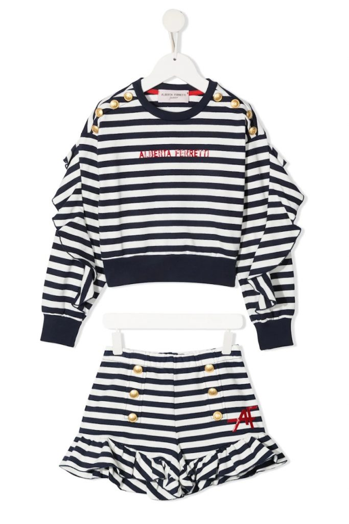 Kids Fashion Trends Stripe Alberta Ferretti Junior Spring Summer 2021