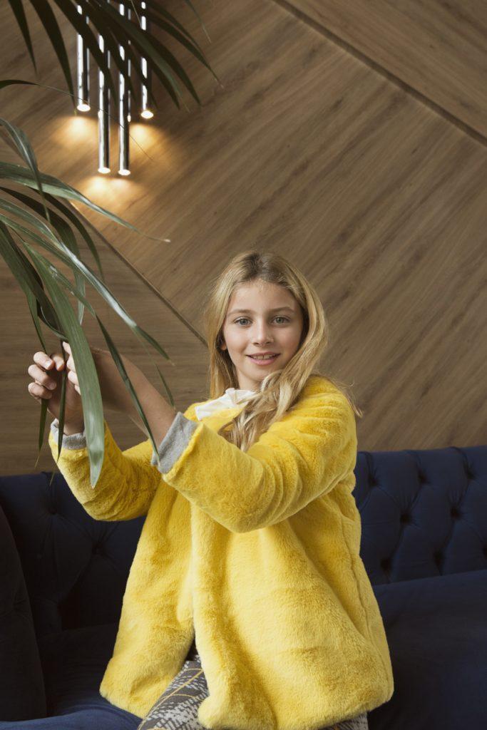 Ginevra yellow eco fur from Magil fall winter 2020 2021
