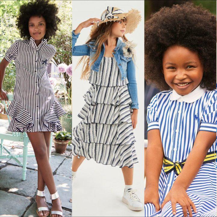 Tendenze moda bimbo righe primavera estate 2021