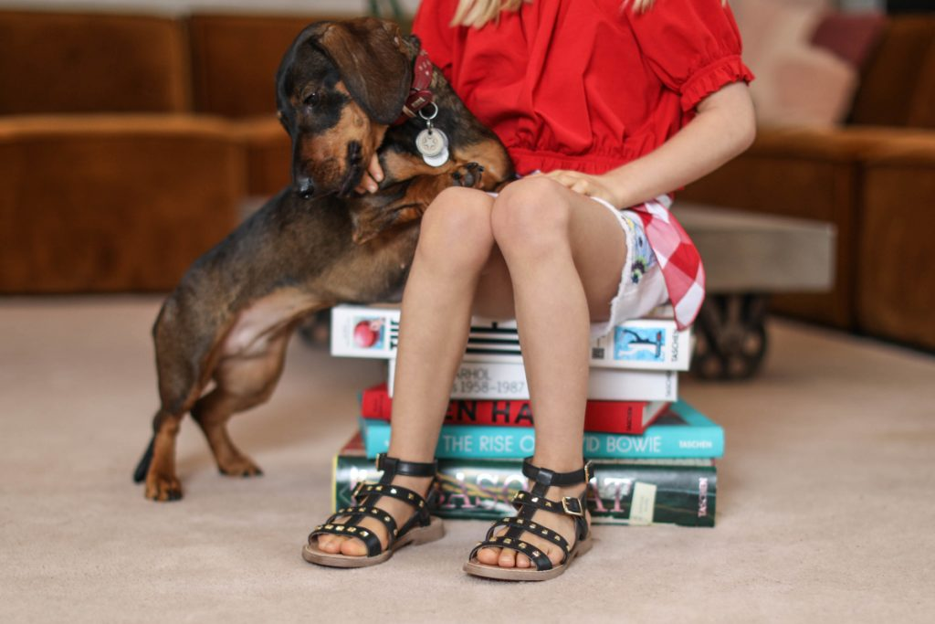 "Dianetti shoes spring summer 2021 brown sandals representing ""Homespun"" kids footwear trend"