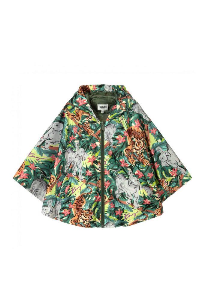Earth month 2021 Kenzo Kids raincoat for girls