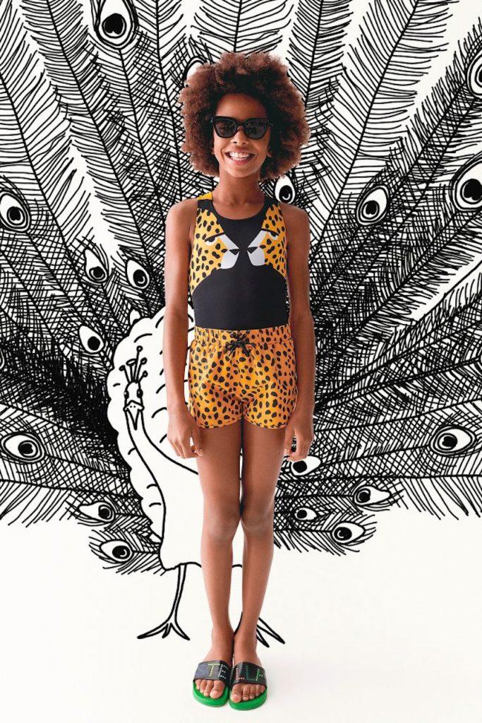 Stella McCartney Kids cheetah print