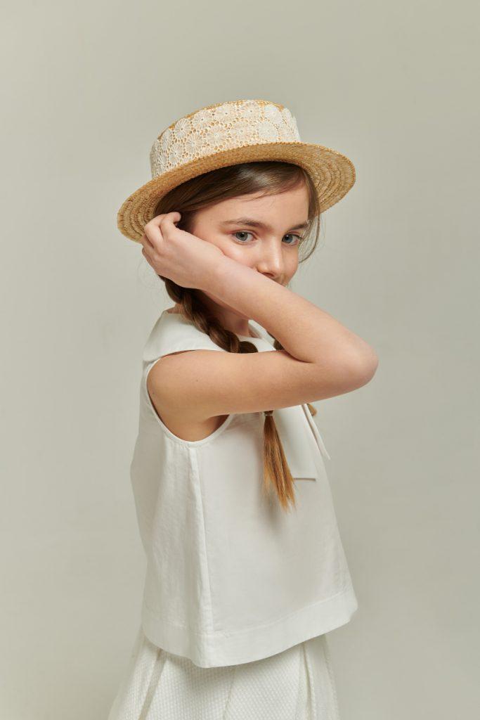 White cotton poplin blouse by mimisol
