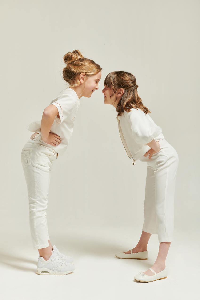 Ambra and Alice in Elisabetta Franchi La Mia Bambina spring summer 2021