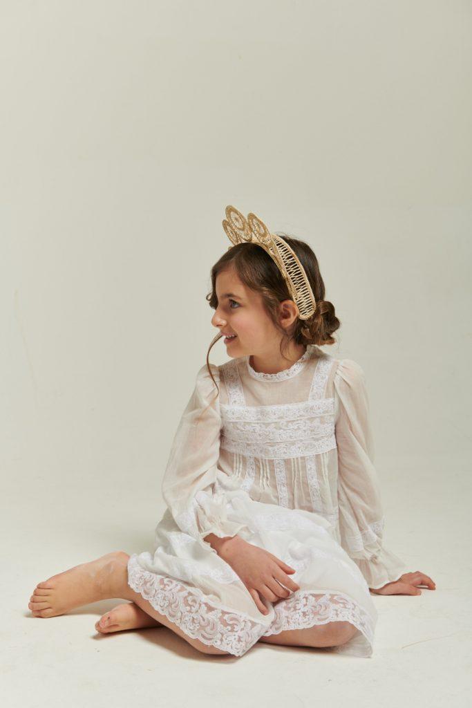 The white story Giulia in Ermanno Scervino Junior spring summer 2021 white dress