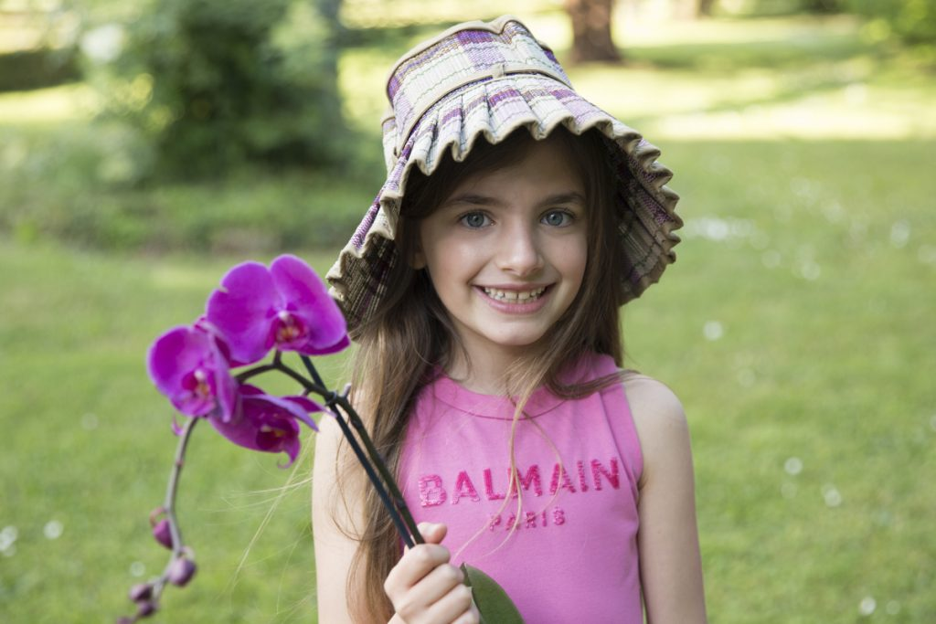 Giulia with Lorna Murray spring summer 2021 Capri hats for girls