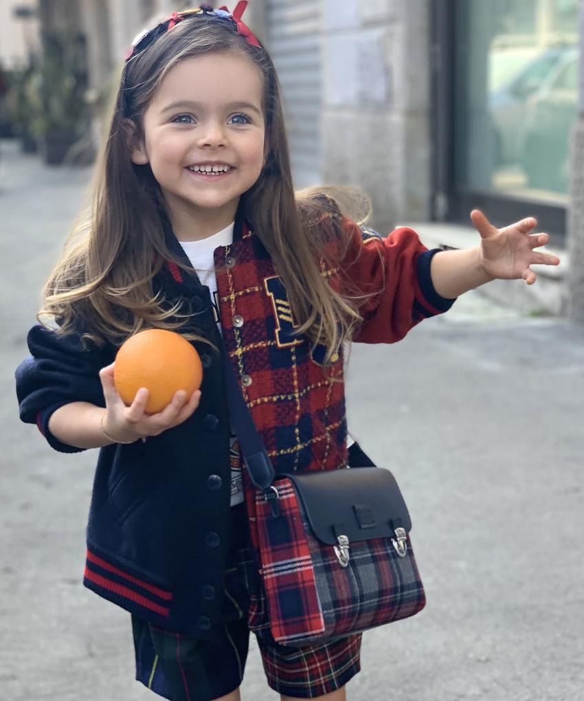 Best Back To School 2021 tartan outfits from D&G red blue tartan coat