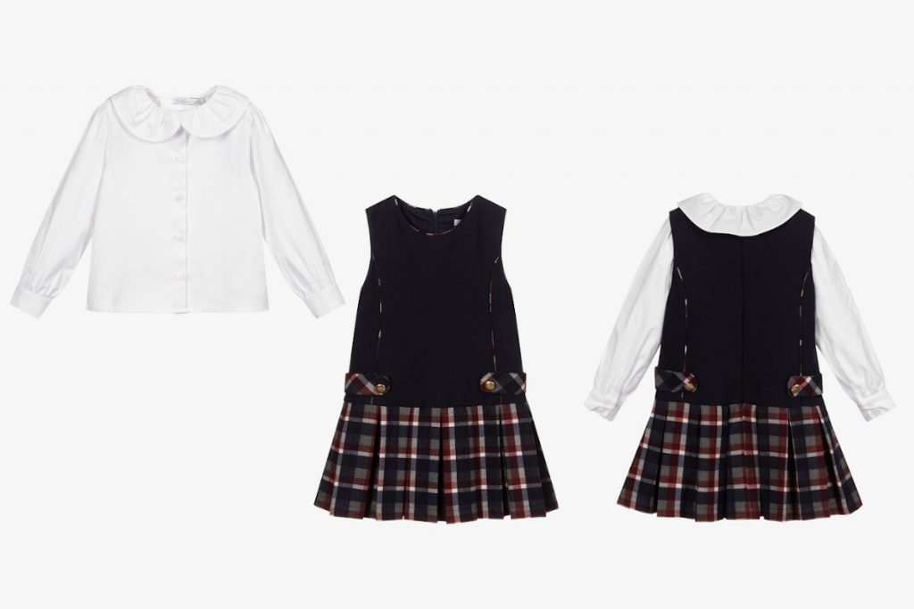 Best Back To School 2021 tartan outfits from Patachou exclusive to Childrensalon