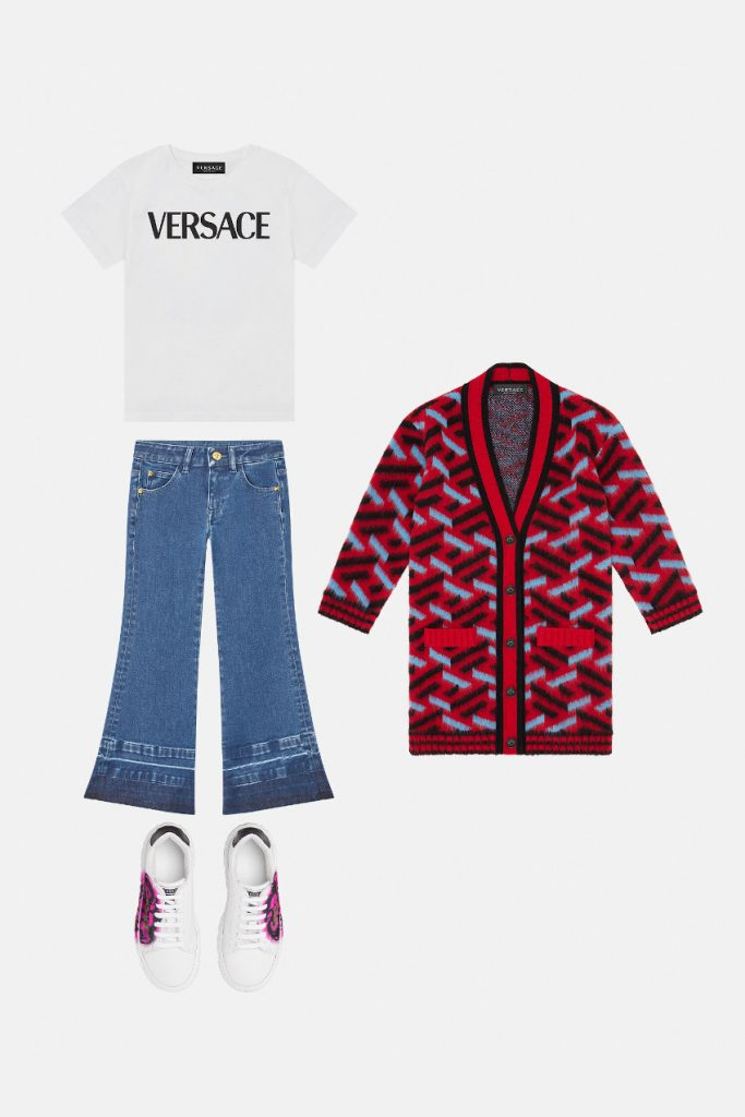Versace Kids fall winter 2021/2022 inspired by Versace adult line mini-me
